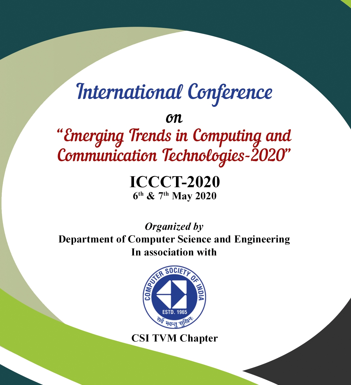 """International Conference  on """"Emerging Trends in Computing and Communication Technologies-2021"""" ICCCT-2021 15th & 16th June 2021"""